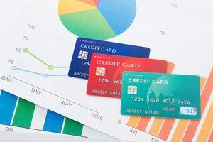 クレジットカードとグラフ